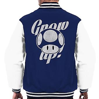 Super Mario Grow Up Men's Varsity Jacket