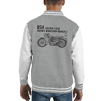 Haynes Owners Workshop Manual BSA A10 650 Golden Flash Kid's Varsity Jacket
