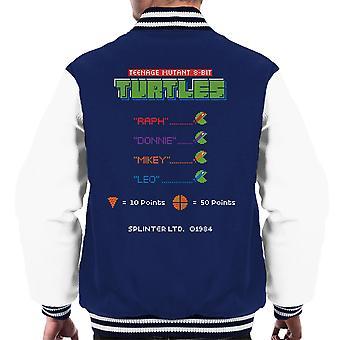 Teenage Mutant 8 Bit skilpadder menn Varsity jakke