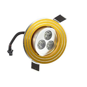 I LumoS High Quality Epistar 3 Watts Gold Rings Aluminium Pure White LED Tiltable Recessed Spot Down light