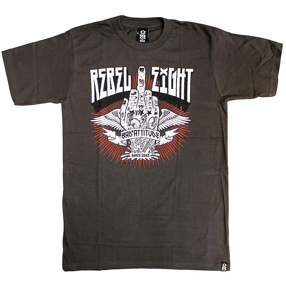 Bad Attitude Rebel8 T-shirt de charbon de bois