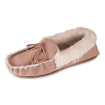 Nordvek Ladies Genuine Sheepskin Moccasin Slippers Hard Sole Real Womens 415-100