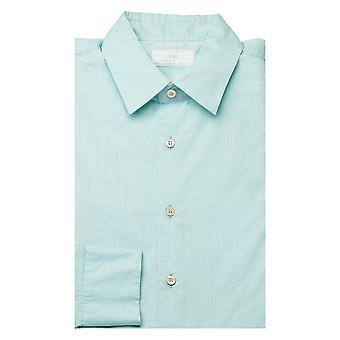 Prada Men's Semi-Spread Collar Cotton Dress Shirt Aqua