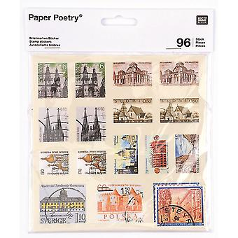 Vintage Stamp Style Stickers Pack of 96 stickers Craft / Scrapbooking