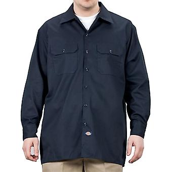 Dickies - Long Sleeve Work Shirt - Dark Navy Dickies574 Classic Mens Work Shirt