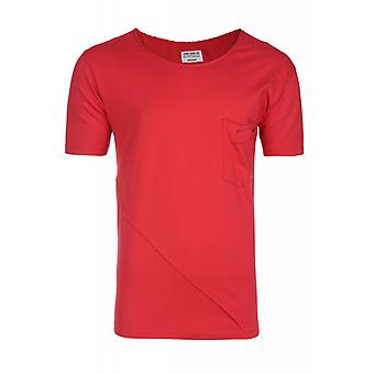 JUNK YARD enzymes shirt men's T-Shirt red with chest pocket