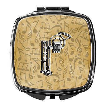 Letter P Musical Instrument Alphabet Compact Mirror