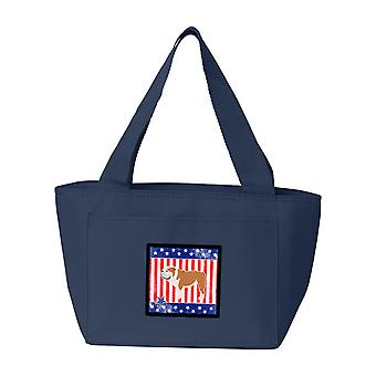 Carolines tesori BB3362NA-8808 USA patriottici inglese del Bulldog Lunch Bag
