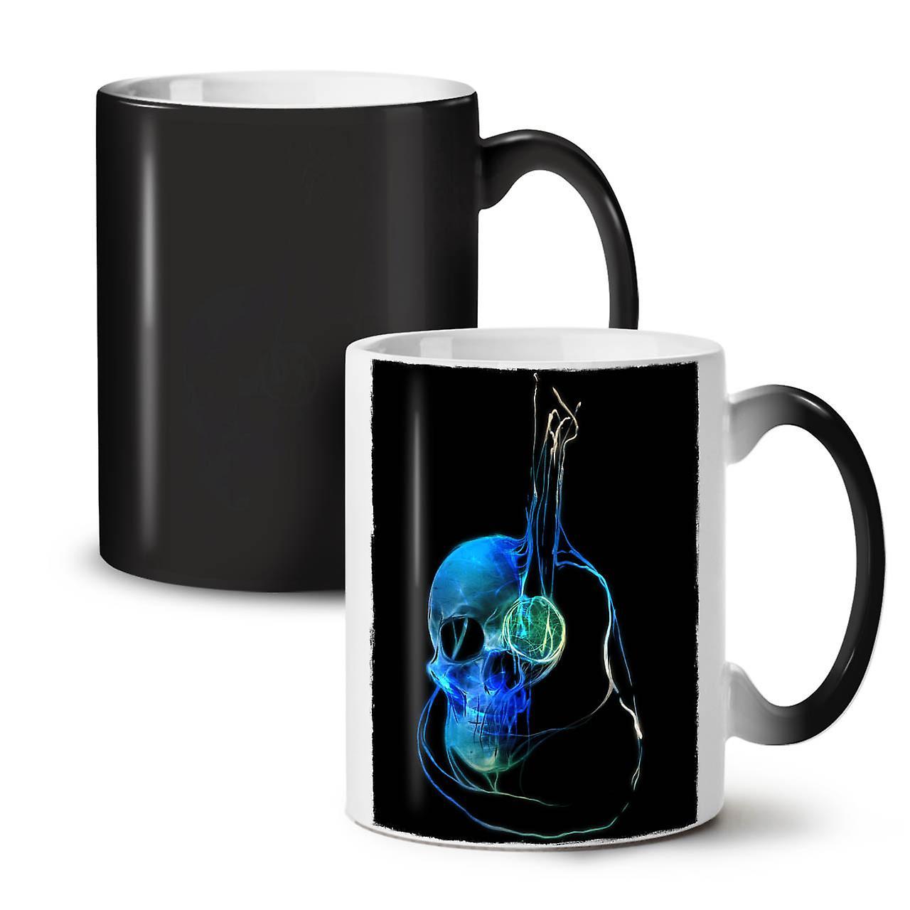 Céramique Art Noir De Musique Tasse 11 Nouveau Changeant Couleur Guitare Thé Café OzWellcoda E29WHIDY