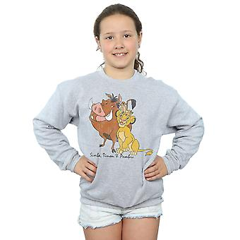 Disney Girls The Lion King Classic Simba, Timon and Pumbaa Sweatshirt