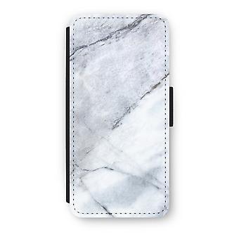 iPhone 5/5S/SE caso Flip - branco de mármore