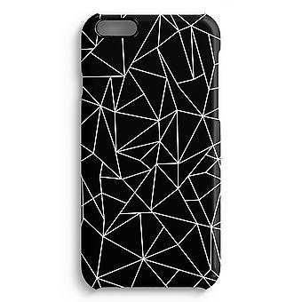 iPhone 6 Plus Full Print Case (Glossy) - Geometric lines white