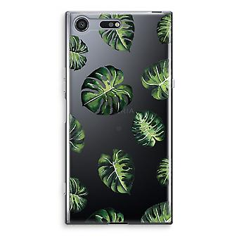 Sony Xperia XZ Premium Transparent Case (Soft) - Tropical leaves