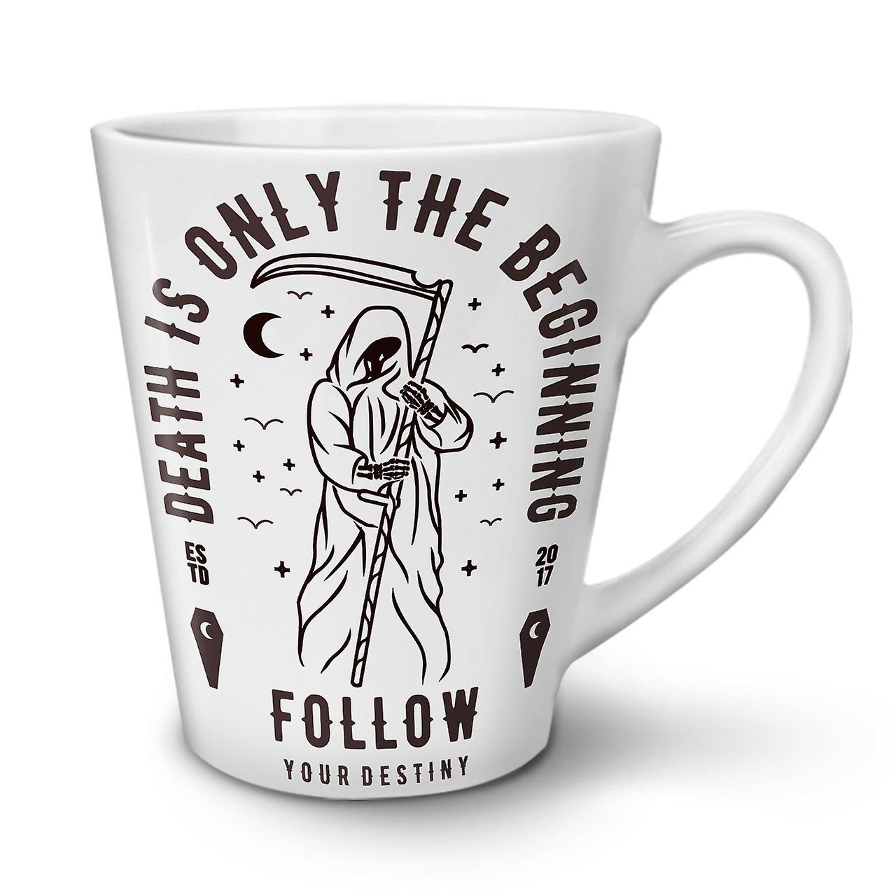 En Blanche Tasse Latte Céramique 12 Mort OzWellcoda Début Nouvelle Café IEDYH29W