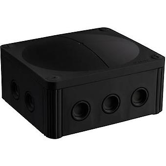 Junction box (L x W x H) 160 x 140 x 81 mm Wiska 10101463 Black