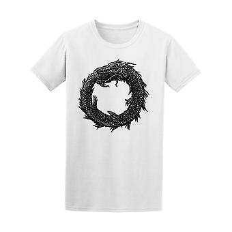 Ouroboros Mystical Snake Dragon Tee Men's -Image by Shutterstock