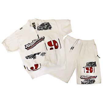Akademiks Jersey Shorts White
