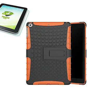 Hybrid outdoor protective case Orange for NEW Apple iPad 9.7 2017 bag + 0.4 H9 tempered glass