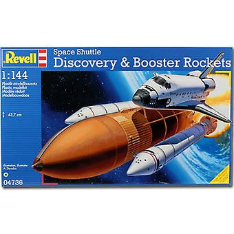 REVELL Space Shuttle Discovery & Booster 1: 144 Flugzeuge Model Kit - 04736