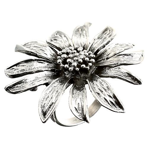 Tournesol Silver Ring