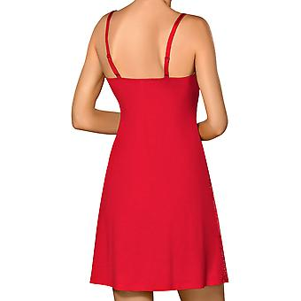 Nipplex CLA-CZE-KOS kvinners Claudia Red blonder natt kjole Loungewear Nightdress
