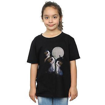 Star Wars dziewczyny ostatni Jedi Porgs Sunset T-Shirt