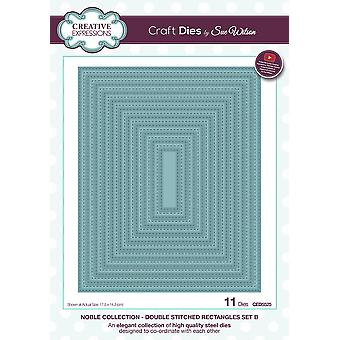 Creative Expressions Craft Dies By Sue Wilson-Double Stitched Rectangles Set B