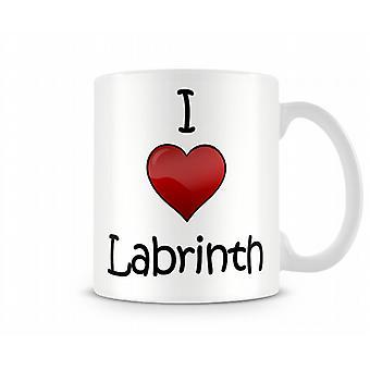 J'aime la tasse Imprimé Labrinth