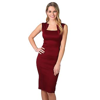 KRISP Square Neck Bodycon Midi Dress
