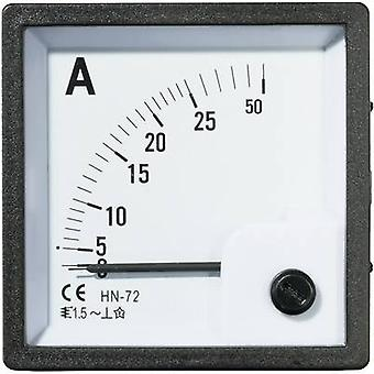 Analogue rack-mount meter VOLTCRAFT AM-72X72/25A 25 A Moving iron