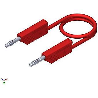 Cordon de mesure SKS Hirschmann CO MLN SIL 25/1 [Banana jack 4 mm - prise de banane 4 mm] 0,25 m rouge