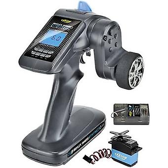 Carson Modellsport Reflex Wheel Pro III LCD Marine Pistol grip RC 2,4 GHz No. of channels: 3 Incl. receiver