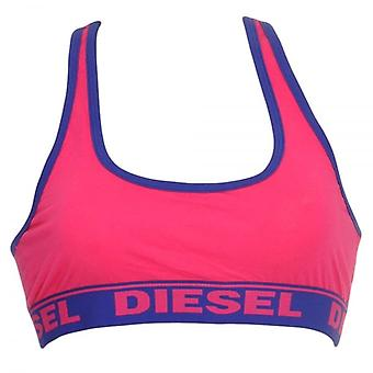 DIESEL Women Miley Cotton Bralette, Pink, Large