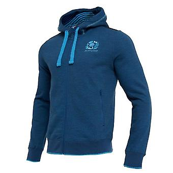 2018-2019 Scotland Macron Rugby Heavy Cotton Full Zip Hoody (Blue)