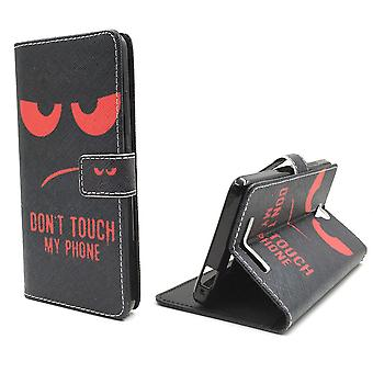 Mobile phone case pouch for mobile Xiaomi Redmi note 2 dont touch Red