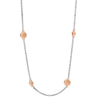 Orphelia Silver 925  Necklace Rose Gold balls 80 cm