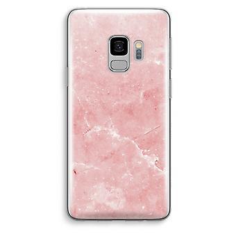 Samsung Galaxy S9 Transparent Case (Soft) - Pink Marble