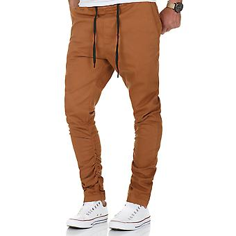 L.A.B 1928 men's Chino Jogger pants camel