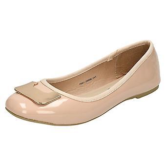 Lugar de las señoras de bailarina plana zapatos F80201