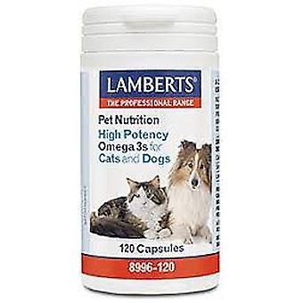 Lamberts High Potency Omega 3s for Cats and Dogs 120 tablets