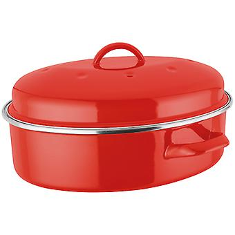 Judge Induction, Red Oval Roaster, 5.2 Litre