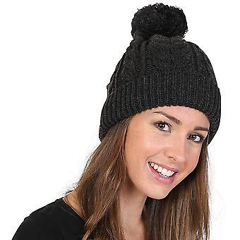 Outdoor-Look Womens Achfary Kabel stricken schwere Snowstar Beanie