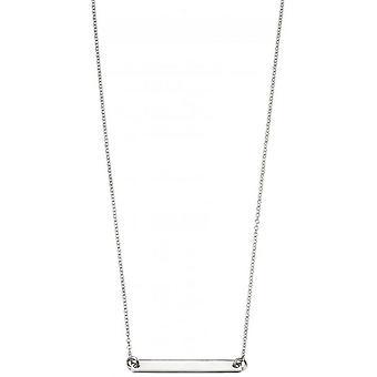 Begin ID Bar halsketting - zilver