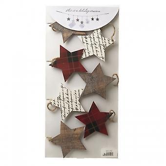 Cielo manda ghirlanda di stelle di Natale e titolare della carta