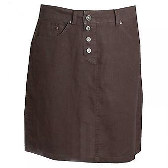 Oui フロント ボタン緩いフィット スカート