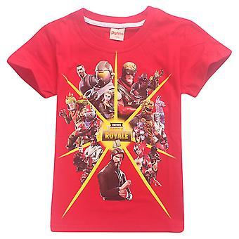 Fortnite t-skjorte for barn (Battle Royale, rød)