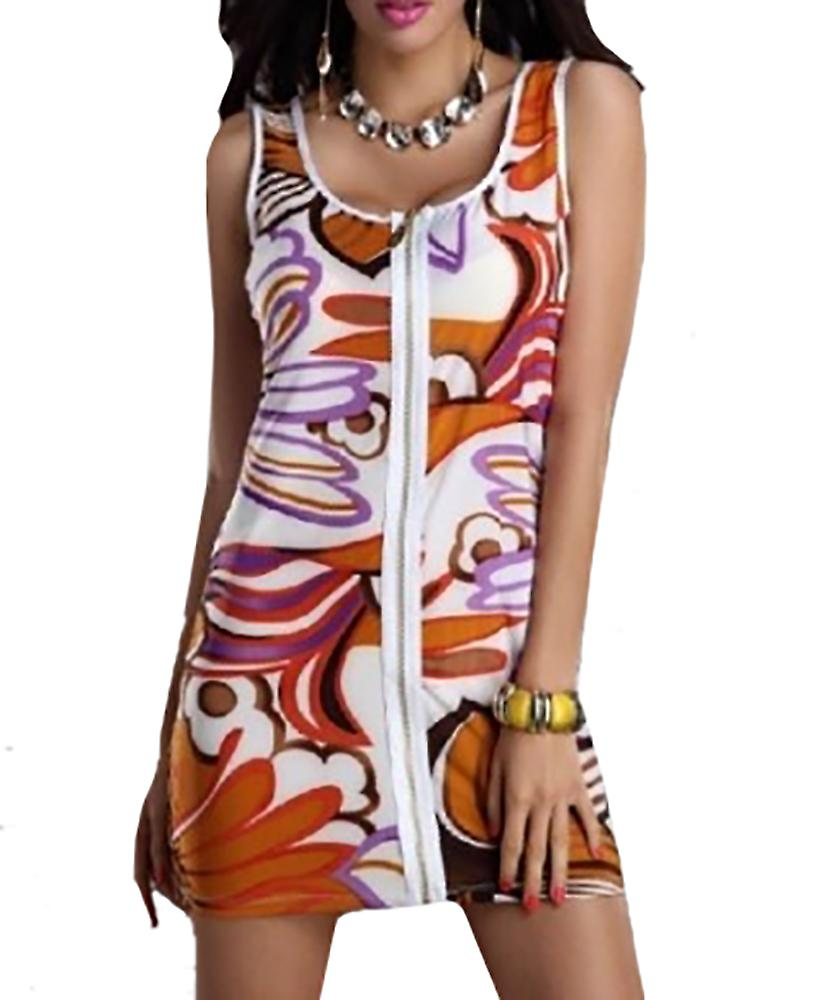 Waooh - flower pattern dress with zip Xzar