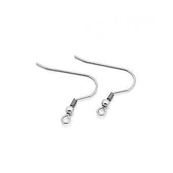 Paket 20 x Silber 304 Edelstahl Haken Ohrring Drähte 15 x 20mm Y01155