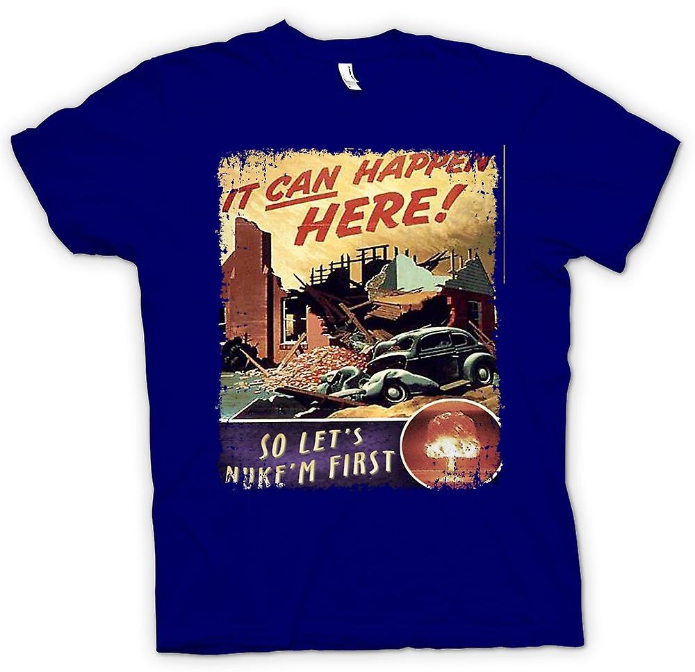 Hombres camiseta-guerra fría cartel Vintage Nuke Em
