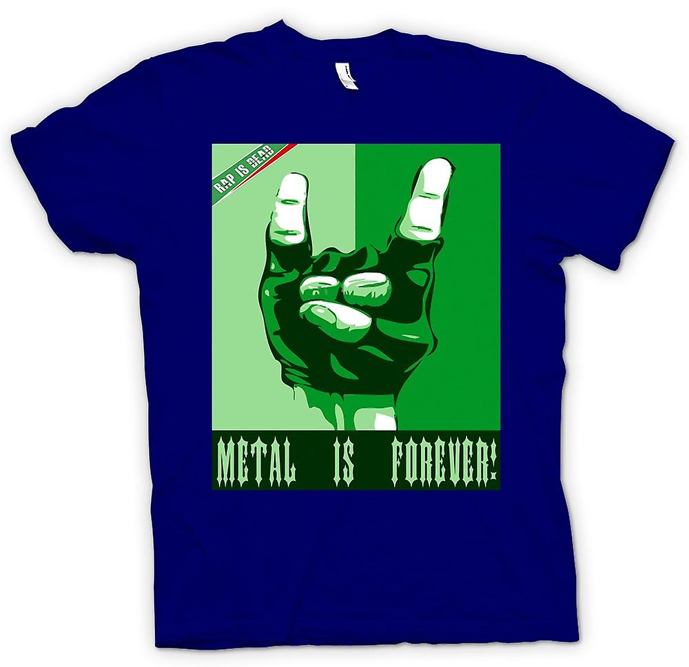 Mens T-shirt - Rap Is Dead Metal Is Forever